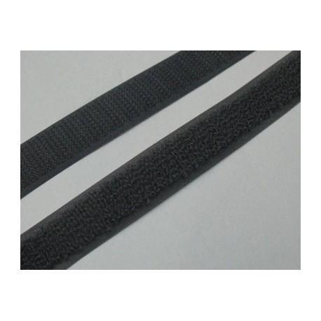 Velcro à coudre gris souris 16mm
