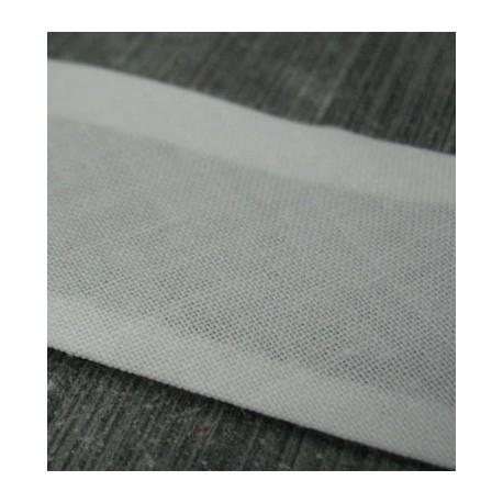 Biais blanc cassé 15mm fini coton