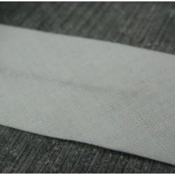 Biais blanc cassé 12.5mm fini coton