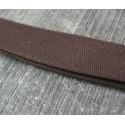 Biais marron 15mm fini coton