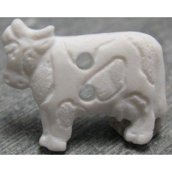 Bouton vache blanche 18mm