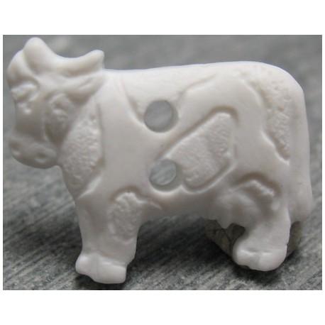 Bouton vache blanche 18 mm b8