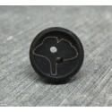 Bouton ginkgo biloba noir 15mm