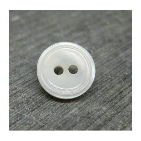 Bouton nacre chemise cercle 11mm
