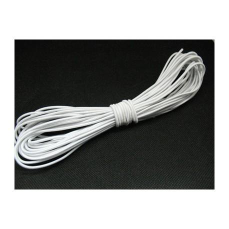 Elastique rond blanc 2mm