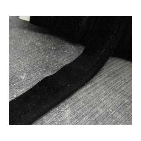 Passepoil floqué noir 15mm