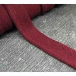 Passepoil bordeaux coton 12mm
