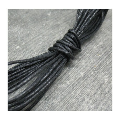 Coton ciré noir 1.5mm