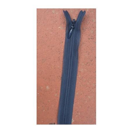 Fermeture éclair invisible YKK bleu fonçé 15cm