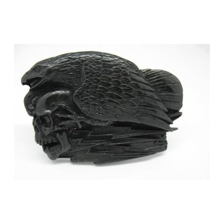 Boucle ceinture métal noir aigle