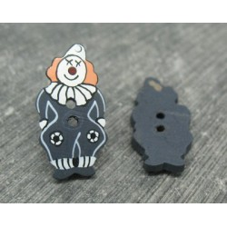 Bouton coco clown noir 25mm
