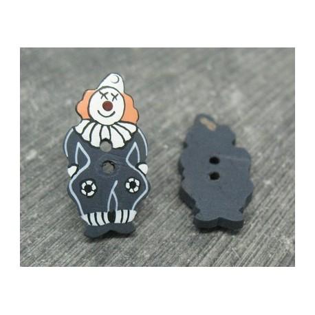 Bouton coco clown noir 25mm