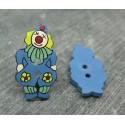 Bouton coco clown bleu 25mm