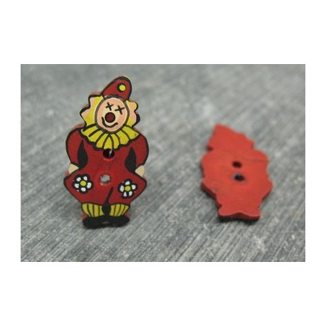 Bouton coco clown rouge 25mm