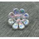 Bouton fleur hologramme 18mm