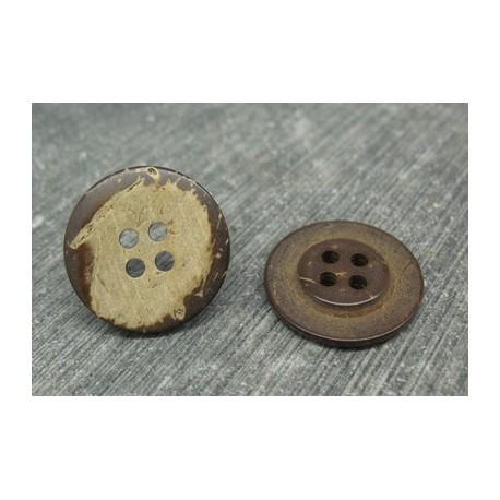Bouton coco naturel 4t 20mm
