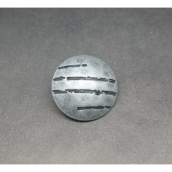 Bouton griffe argent 28 mm
