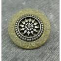 Bouton roue antique beige 27mm