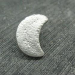 Bouton lune gris argent 18mm