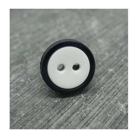 Bouton bicolore noir blanc 13mm