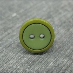 Bouton bicolore kaki olive 13mm