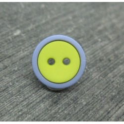 Bouton bicolore lavande anis 13mm