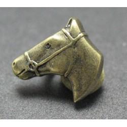 Bouton cheval vieil or 15mm