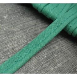 Passepoil coton vert emeraude 8mm