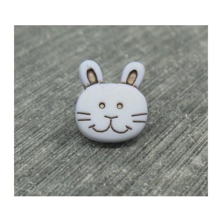 Bouton lapin gris 15mm