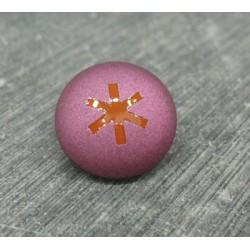 Bouton astérisque pourpre orange 18mm