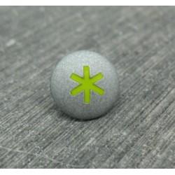 Bouton astérisque gris vert anis 12mm