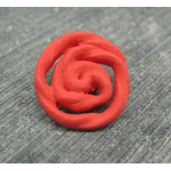 Bouton rose rouge 18mm