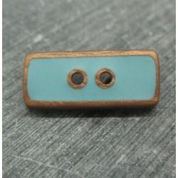 Bouton lingot vieil or turquoise 25mm