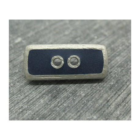 Bouton lingot gris marine 22mm