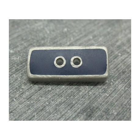 Bouton lingot gris marine 25mm