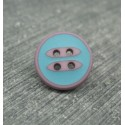 Bouton navettes vieux rose turquoise 13mm