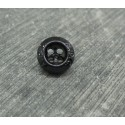Bouton nacre 4t noir 11mm