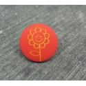 Bouton fleur tournesol orange jaune 15mm