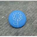 Bouton fleur tournesol bleu 15mm