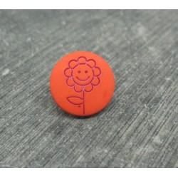 Bouton fleur tournesol orange violet 15mm