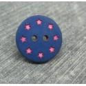 Bouton étoile rose 18mm