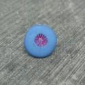 Bouton pistil bleu fuschia 12mm
