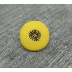 Bouton pistil jaune noir 12mm
