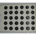 Plaque N°55:  30 boutons nacre rivière coquillage noir 15mm