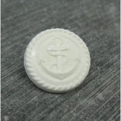 Bouton ancre blanc 18mm