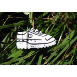 Bouton chaussure de sport blanc noir 20mm