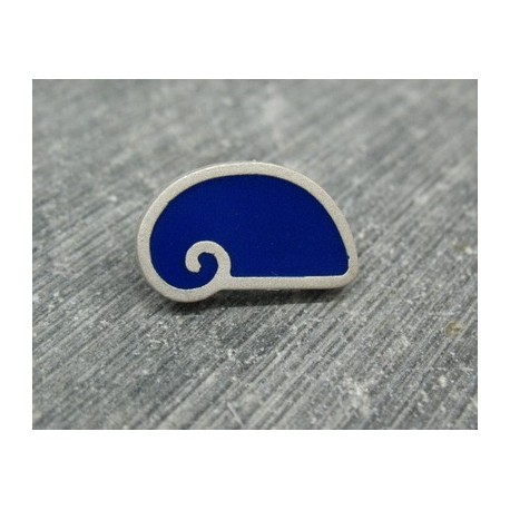 Bouton escargot stylé bleu 18mm