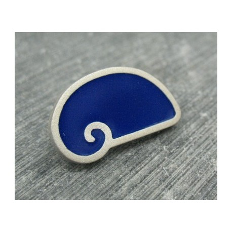 Bouton escargot stylé bleu 25mm