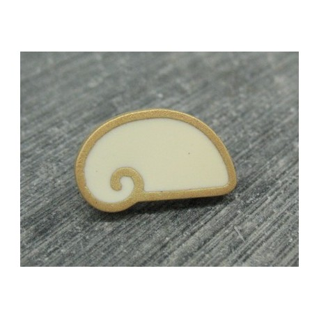 Bouton escargot stylé blanc cassé 18mm
