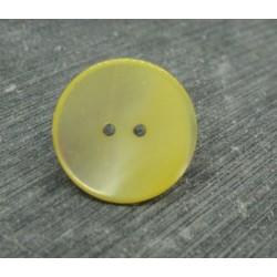 Bouton abalone jaune 22mm